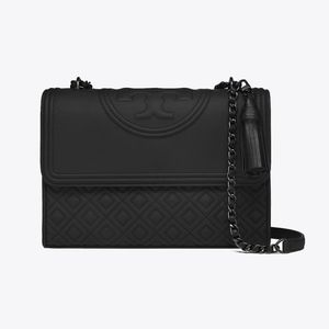 Tory Burch Fleming Matte Black Convertible Bag
